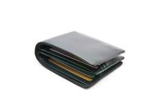 Rzemienny portfel na białym tle Fotografia Royalty Free