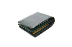 Rzemienny portfel na białym tle Zdjęcia Stock