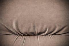Rzemienny rocznik kanapy szczegół - makro- krótkopęd Zdjęcie Stock