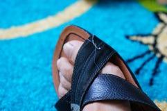 Rzemienny sandał Zdjęcie Royalty Free