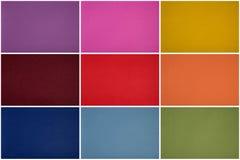 Rzemienny tekstura set, ten sam tekstura w wielokrotności barwi purpury, szpilka Zdjęcie Stock