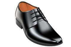 Rzemiennych butów 3d rendering odizolowywający na białym tle wliczając ścinek ścieżki - royalty ilustracja