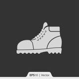 Rzemiennych butów ikona dla sieci i wiszącej ozdoby Obraz Royalty Free