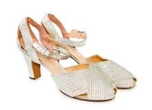 rzemiennych butów srebny rocznik obraz royalty free
