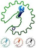 Rzemiosło mężczyzna logo royalty ilustracja