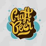Rzemiosła pisma literowania Piwny logo Zdjęcie Royalty Free