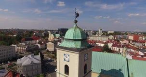 Rzeszow空中市中心在波兰镇2015年8月26st日的中央Ratush 免版税库存照片