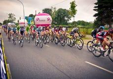 RZESZOW,波兰- 7月30 :自行车赛游览de Pologne,阶段3 库存图片