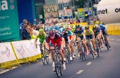 RZESZOW,波兰- 7月30 :自行车赛游览de Pologne,阶段3 免版税库存照片