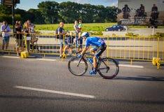 RZESZOW,波兰- 7月15 :自行车赛游览de Pologne,阶段4 免版税库存照片