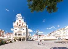 Rzeszow en Polonia, centro histórico Imagen de archivo libre de regalías