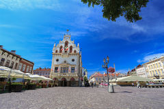 Rzeszow - The historical center - Poland. Rzeszow - The old square in Poland Stock Image