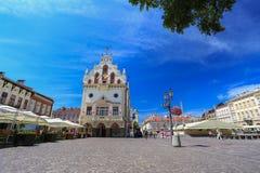 Rzeszow - o centro histórico - Polônia Imagem de Stock