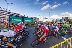 RZESZOW, POLÔNIA - 15 DE JULHO: Excursão de Pologne da raça de ciclismo, fase 4 Fotografia de Stock Royalty Free