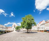 Rzeszow in Poland, historical center. Rzeszow in Poland, historical architecture in the marketplace Royalty Free Stock Image
