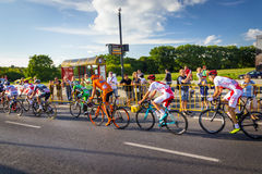 RZESZOW, POLAND - JULY 15: Cycling race Tour de Pologne, stage 4 Royalty Free Stock Image