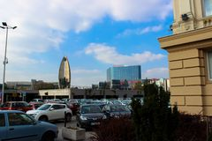 Rzeszow, Poland -see on the parking lot royalty free stock images