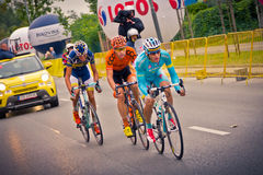 RZESZOW POLEN - JULI 30: Cykla loppet turnera de Pologne, etapp 3 Royaltyfria Bilder