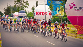 RZESZOW POLEN - JULI 30: Cykla loppet turnera de Pologne, etapp 3 Arkivbilder