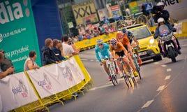 RZESZOW POLEN - JULI 30: Cykla loppet turnera de Pologne, etapp 3 Arkivfoto