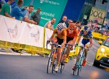RZESZOW POLEN - JULI 30: Cykla loppet turnera de Pologne, etapp 3 Arkivfoton