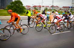 RZESZOW, POLEN - 30. JULI: Radfahrenrennenpolen-rundfahrt, Stadium 3 Lizenzfreie Stockfotografie