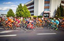RZESZOW, POLEN - 15. JULI: Radfahrenrennenpolen-rundfahrt, Stadium 4 Stockfotos