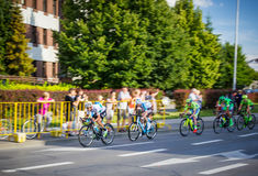 RZESZOW, POLEN - 15. JULI: Radfahrenrennenpolen-rundfahrt, Stadium 4 Lizenzfreies Stockbild