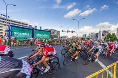 RZESZOW, POLEN - 15. JULI: Radfahrenrennenpolen-rundfahrt, Stadium 4 Lizenzfreie Stockfotos