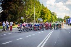 RZESZOW, POLONIA - 15 DE JULIO: Viaje de Pologne, etapa 4 de la raza de ciclo Fotografía de archivo libre de regalías