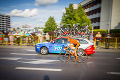 RZESZOW, POLONIA - 15 DE JULIO: Viaje de Pologne, etapa 4 de la raza de ciclo Fotos de archivo libres de regalías