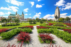 Rzeszow / Public garden in the city center / Landscape. Rzeszow / Public garden in the city center. Landscape Royalty Free Stock Photo