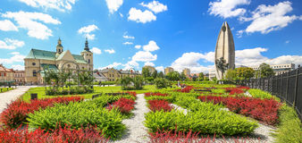 Rzeszow / Public garden in the city center / Landscape. Rzeszow / Public garden in the city center view royalty free stock photography