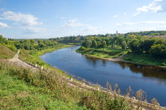 Rzhev, o Rio Volga Foto de Stock