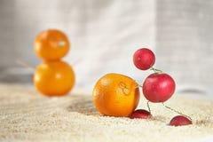 Rzodkiew mężczyzna robi mandarine bałwanu Obraz Royalty Free