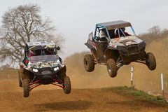 RZR Double jump Royalty Free Stock Photo