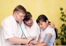 Ärztliche Untersuchung. Stockbild