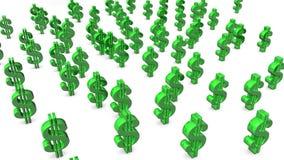 Rzucać kulą Dolarowych znaki ilustracji
