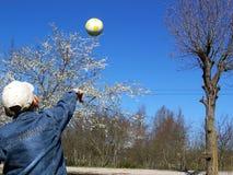 rzucaj piłkę Zdjęcia Stock