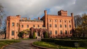 Rzucewo-Schloss in der Polen-Pommern-Region Stockfotos
