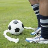 Rzutu wolnego mecz piłkarski Zdjęcie Stock