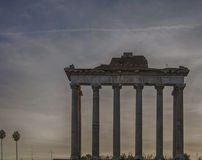 Rzym świątynia Saturn 01 Zdjęcia Stock