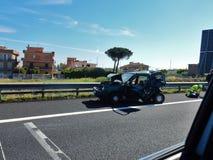 Rzym - autostrada wypadek Zdjęcia Royalty Free