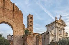 Rzym bazylika Di Santa Francesca Romana Obrazy Stock