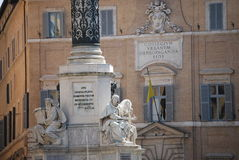 Rzym - Biblijne statuy przy bazą Colonna dell'Imacolata Zdjęcia Stock