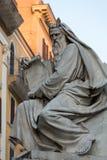 Rzym - Biblijne statuy przy bazą Colonna dell ` Imacolata Fotografia Royalty Free