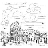 Rzym colosseum ilustracji