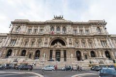 Rzym - fasada pałac sprawiedliwość - Palazzo Di Giustizia fotografia stock