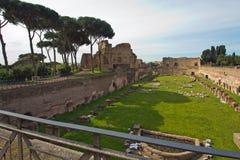 Rzym, forum romanum Obrazy Stock