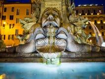 , Rzym, Fountane blisko Panteonu Zdjęcie Stock